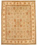 RugStudio presents Due Process Peshawar Hereke Aqua-Cream Hand-Knotted, Best Quality Area Rug